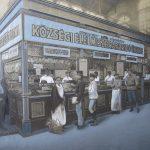 Erdélyi Mór: Hús-, hentesáru pavilon a központi Vásárcsarnokban