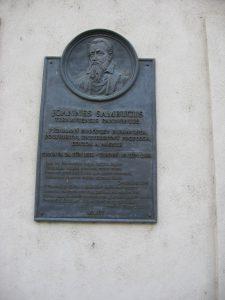 Zsámboky János emléktáblája Nagyszombatban