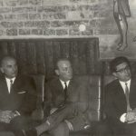 Kovács Ferenc, Várnagy László és B. Kovács András rektorok a klubban