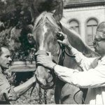 Mócsy János lovat vizsgál