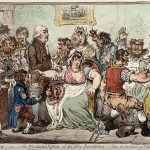 Edward Jenner vaccinating patients against smallpox
