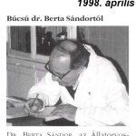 Dr. Berta Sándor